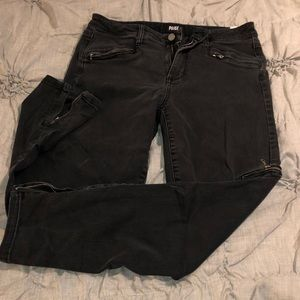 Paige Washed Black Skinny Jeans